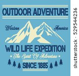 wild life expedition  outdoor... | Shutterstock .eps vector #529544236
