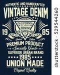 vintage denim  california... | Shutterstock .eps vector #529544260