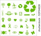 eco and green icons   Shutterstock .eps vector #52954828