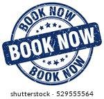 book now. stamp. blue round... | Shutterstock .eps vector #529555564