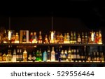 blur alcohol drink on bar... | Shutterstock . vector #529556464
