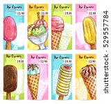 ice cream price banners. price... | Shutterstock .eps vector #529557784