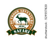 safari hunting sign. outdoor... | Shutterstock .eps vector #529557820