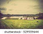 Caravan Camping On The Lake In...