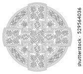 celtic cross knot pattern... | Shutterstock .eps vector #529564036