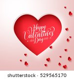 happy valentines day typography ... | Shutterstock .eps vector #529565170