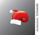 vector cartoon funky red santa... | Shutterstock .eps vector #529568080