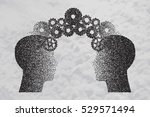 concept of brain storming ... | Shutterstock .eps vector #529571494