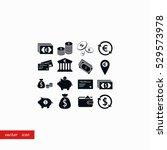 finance icons vector  flat... | Shutterstock .eps vector #529573978