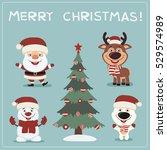 merry christmas  set of... | Shutterstock .eps vector #529574989