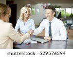 shot of an investment advisor... | Shutterstock . vector #529576294
