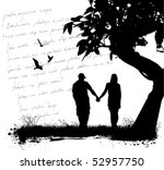 couple love | Shutterstock .eps vector #52957750