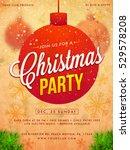 merry christmas poster or... | Shutterstock .eps vector #529578208