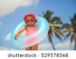 cute little girl with toy... | Shutterstock . vector #529578568