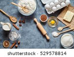 the process baking cake in... | Shutterstock . vector #529578814