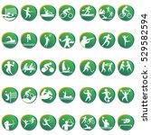 sport disciplines vector icons... | Shutterstock .eps vector #529582594