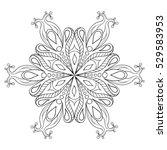 Zentangle Elegant Snow Flake....