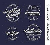 denim typography t shirt design ...   Shutterstock .eps vector #529585918