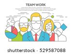 teamwork. business concept.... | Shutterstock .eps vector #529587088