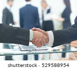 business man shaking hand to... | Shutterstock . vector #529588954