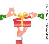 hand santa claus holding give...