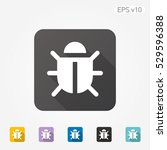 colored icon of bug symbol with ... | Shutterstock .eps vector #529596388