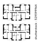 apartment house floor plans.... | Shutterstock .eps vector #529599964