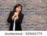 afraid latin business woman | Shutterstock . vector #529601779