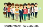 the concept of a young business ... | Shutterstock .eps vector #529602286