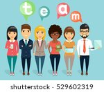 the concept of a young business ... | Shutterstock .eps vector #529602319