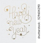 new year greeting card on... | Shutterstock .eps vector #529604290