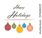 simple bauble greeting with text | Shutterstock .eps vector #529608229