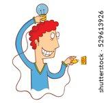 turn on the idea | Shutterstock .eps vector #529613926
