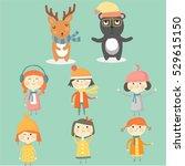winter character   Shutterstock .eps vector #529615150