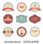 collection of vintage retro... | Shutterstock .eps vector #529616998