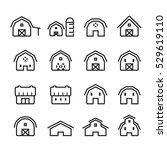 barn icon set | Shutterstock .eps vector #529619110