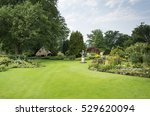 big green garden with green... | Shutterstock . vector #529620094