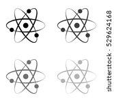 atom    black vector icon | Shutterstock .eps vector #529624168