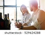 happy business colleagues... | Shutterstock . vector #529624288