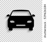 car   black vector  icon with... | Shutterstock .eps vector #529626184
