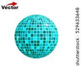 disco ball icon | Shutterstock .eps vector #529633648