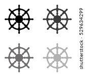 ship steering wheel    black... | Shutterstock .eps vector #529634299