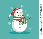 snowman flat design | Shutterstock .eps vector #529637890