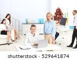 young colleagues in office...   Shutterstock . vector #529641874
