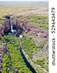 Jim Jim Falls from above, Kakadu. Top End, Northern Territory, Australia