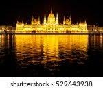night view of illuminated... | Shutterstock . vector #529643938