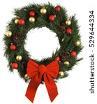 Christmas wreath new year...