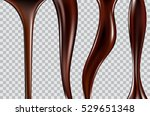 chocolate streams isolated on a ... | Shutterstock .eps vector #529651348