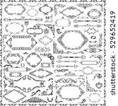 splendid art baroque set is on...   Shutterstock .eps vector #529652419