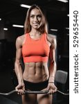 athletic young woman posing and ... | Shutterstock . vector #529655440